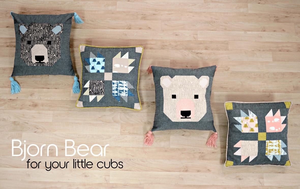 Bjorn Bear Pillows - Copy