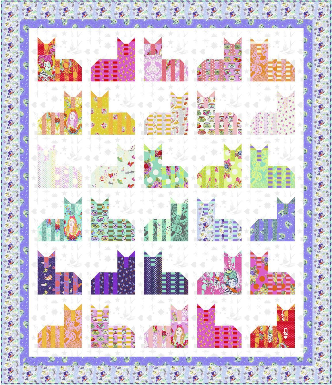 Cheshire Cats Flake Quilt