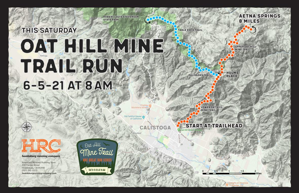 oat hill mine trailhead map 6-5-21