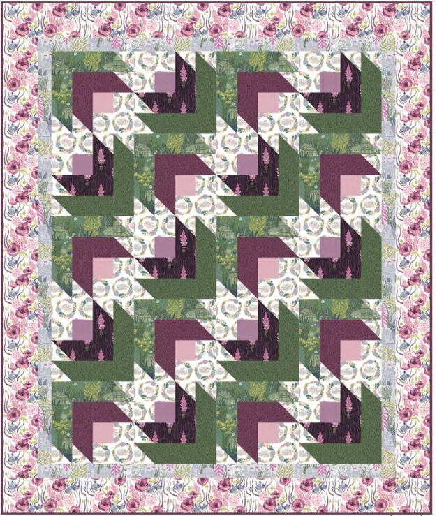 dear stella- Rose Hedge- free quilt pattern