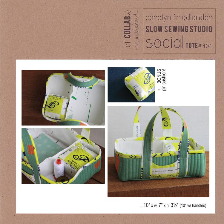 carolyn friedlander social tote sewing pattern