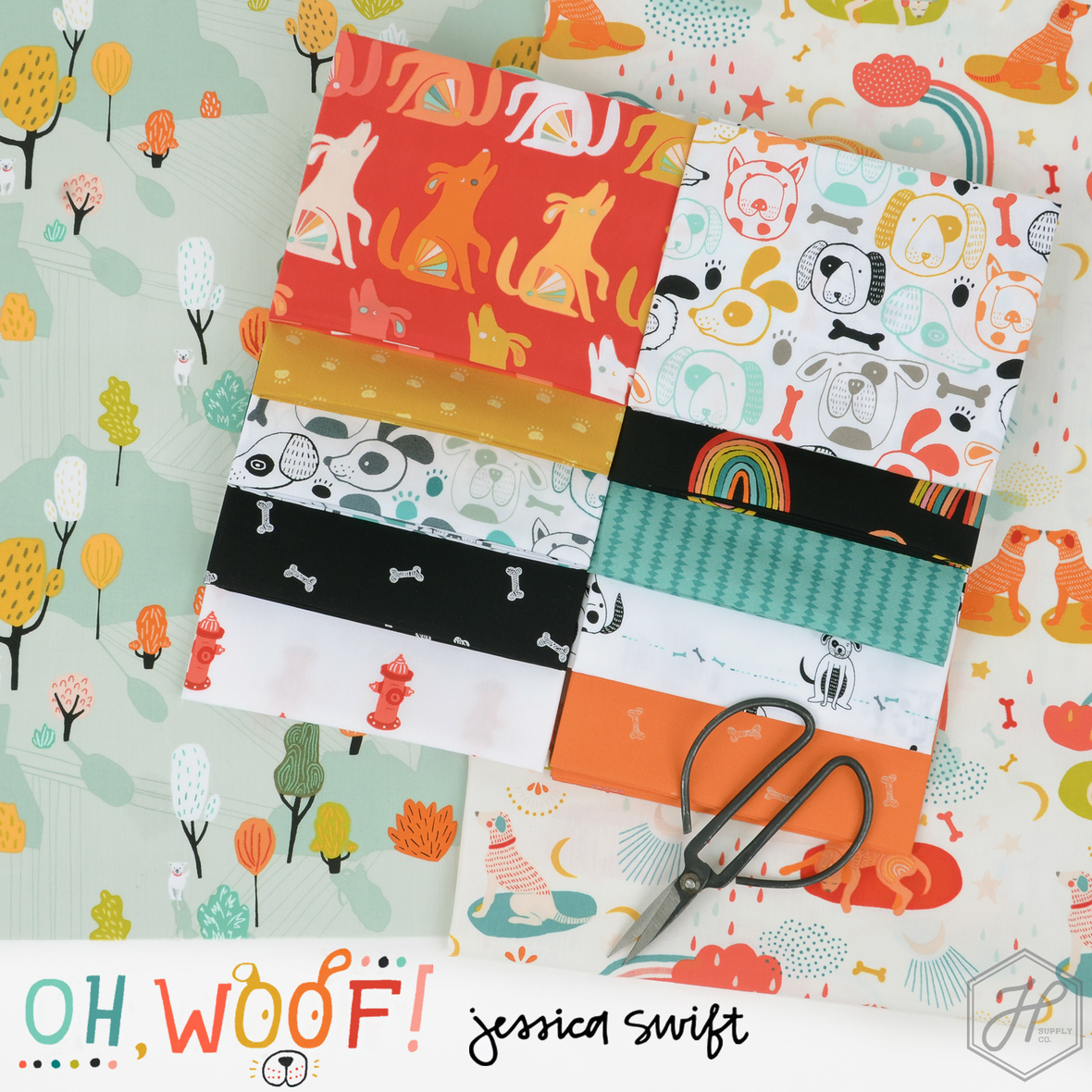 Oh Woof Fabric Jessica Swift for Art Gallery at Hawthorne