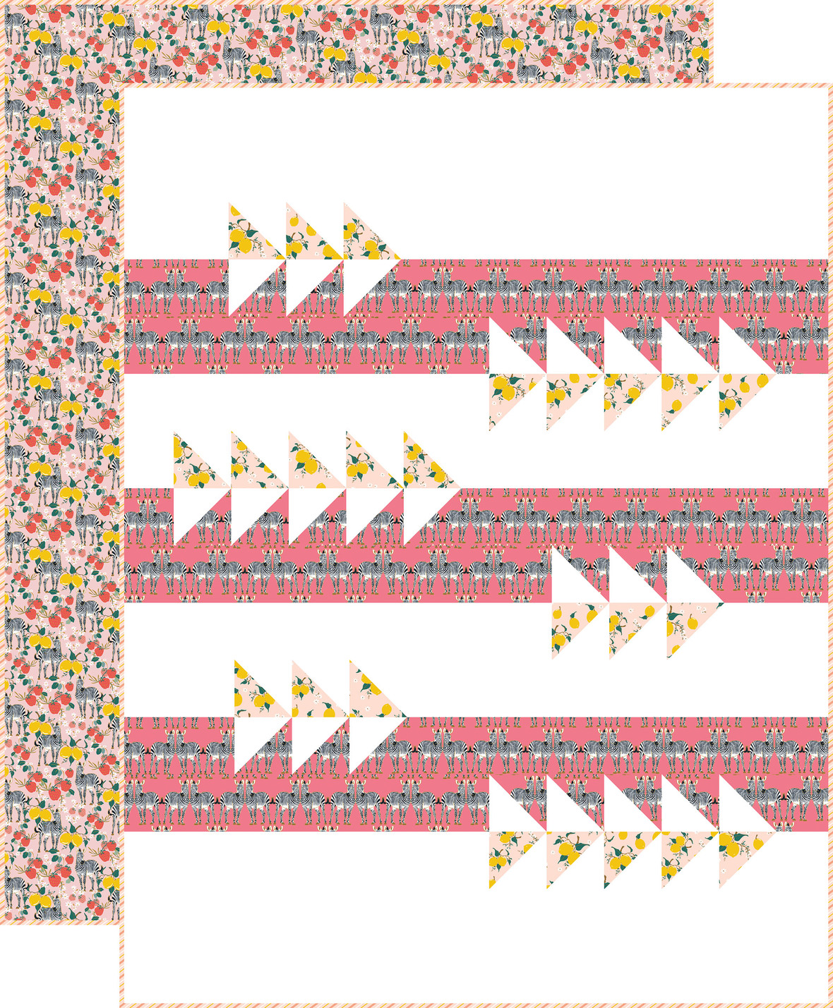Fly By Quilt in Pink