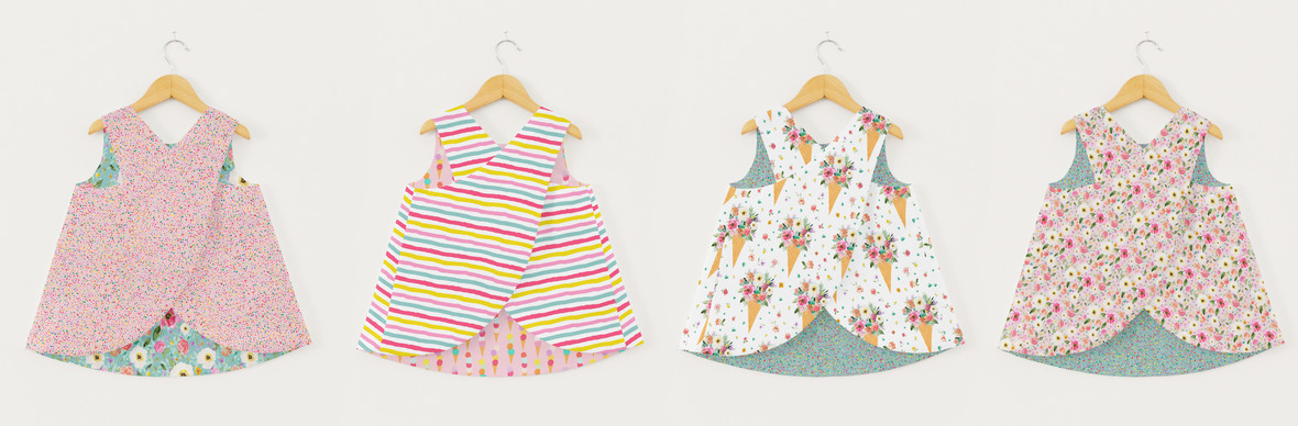 Pinafore Top all together