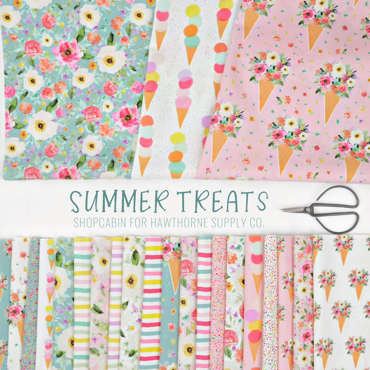Summer Treats fabric Shopcabin for Hawthorne Supply Co