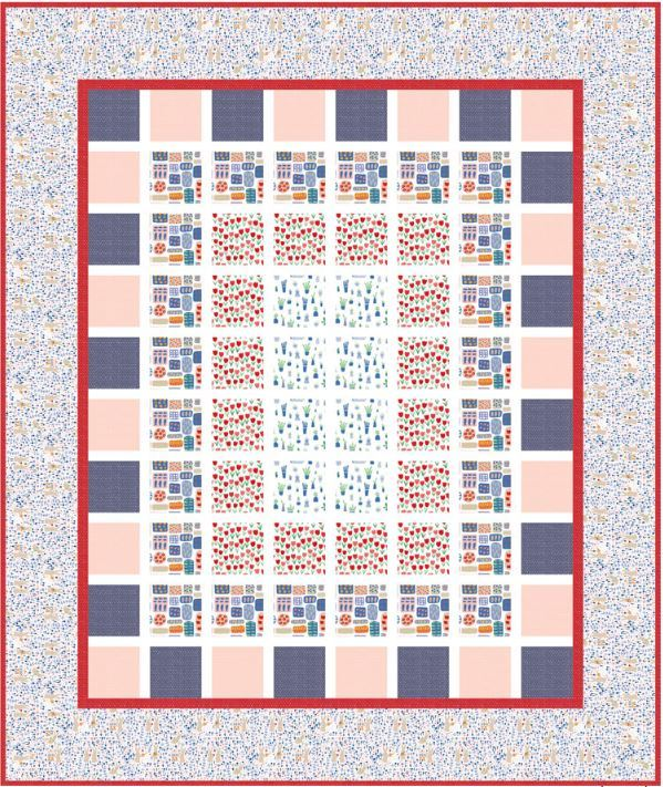 dear stella- windows - free quilt pattern