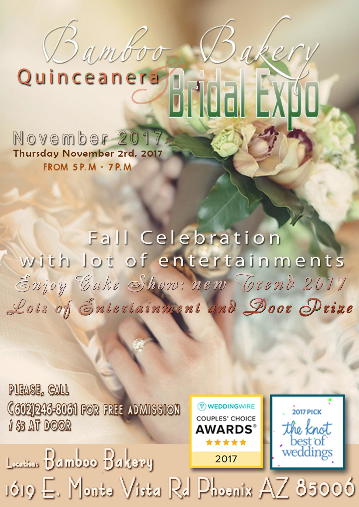 Celebrate Fall with Quinceanera & Wedding EXPO: November 2nd