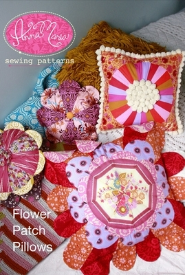 anna maria horner flower patch pillows sewing pattern