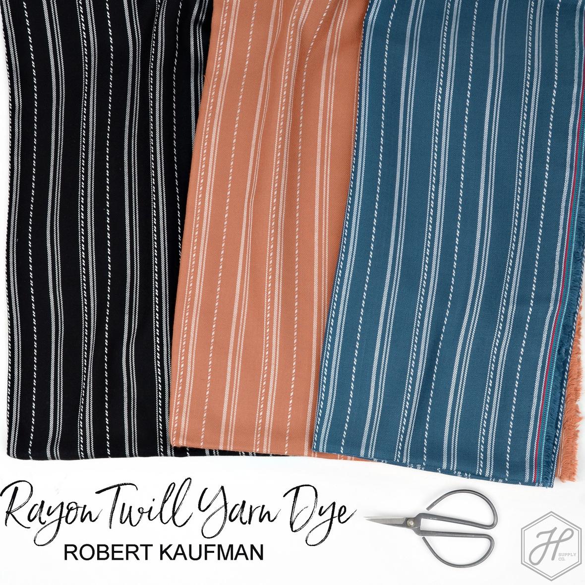 Rayon Twill Yarn Dye Robert Kaufman at Hawthorne Supply Co