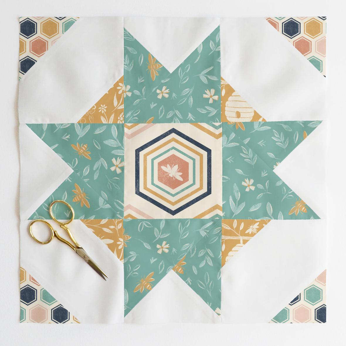 compass star quilt block 4