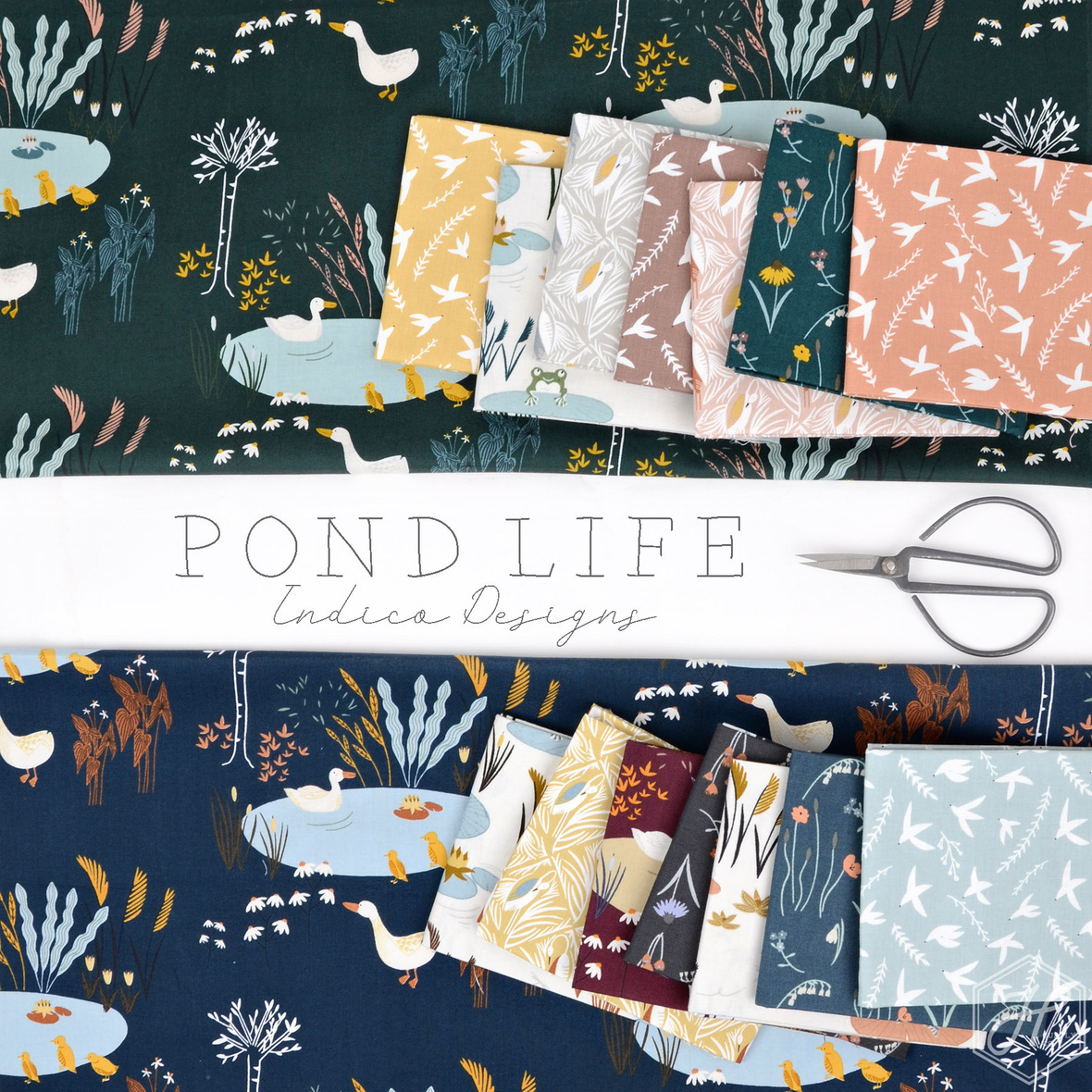 Indica Designs Pond Life for RJR fabric at Hawthorne Supply Co