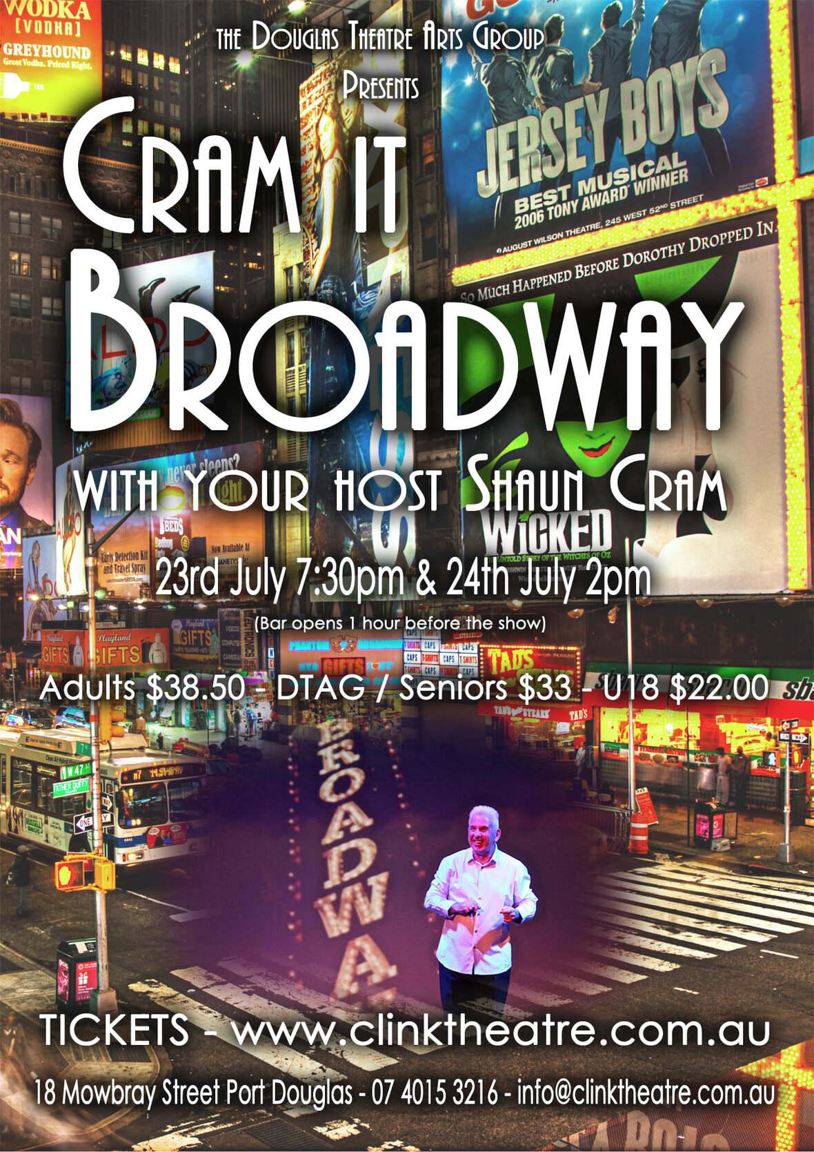 cram it on broadway