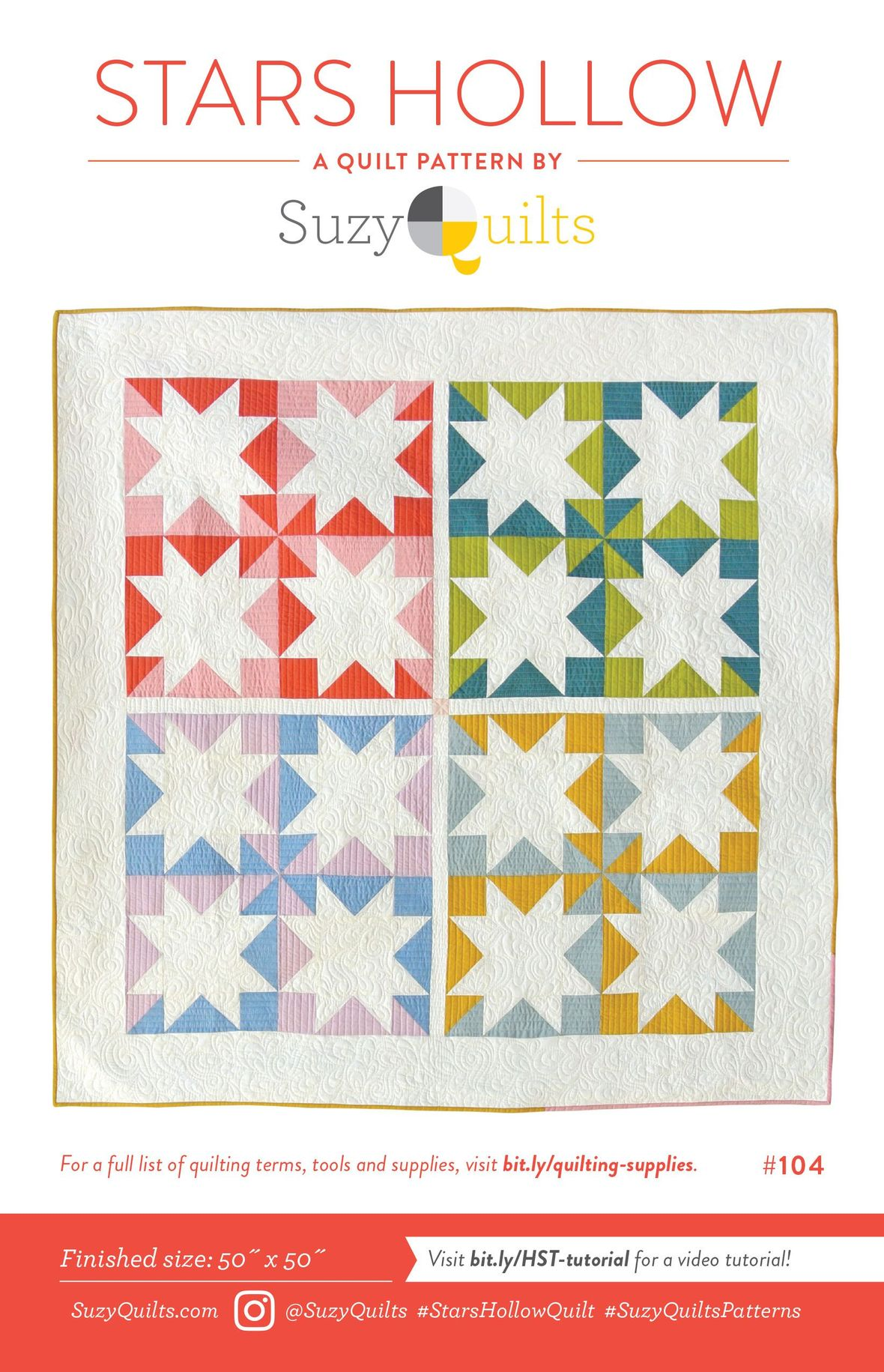 suzy quilts stars hollow sewing pattern