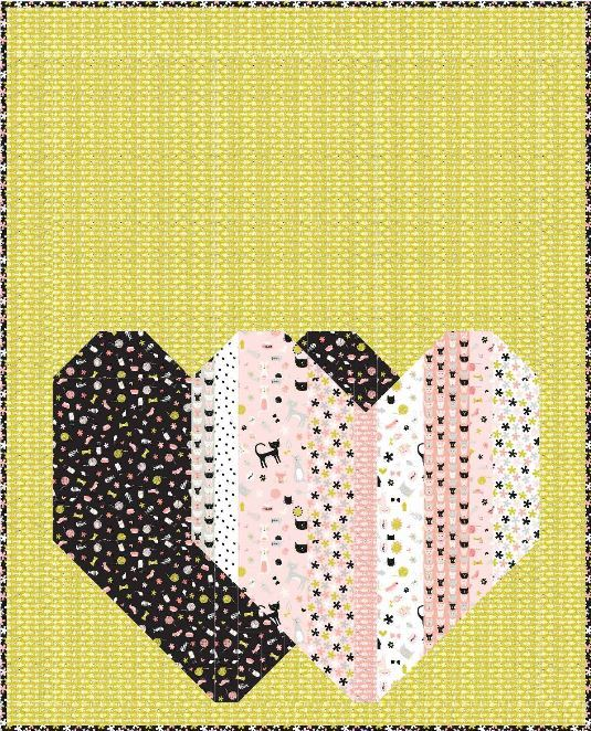 riley blake- pop heart quilt pattern by kelly Fannin- for purchase