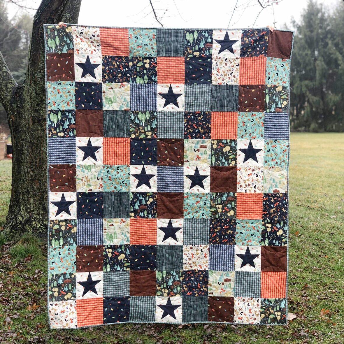 Starry Woodland Quilt Jessica Dayon RB Blog