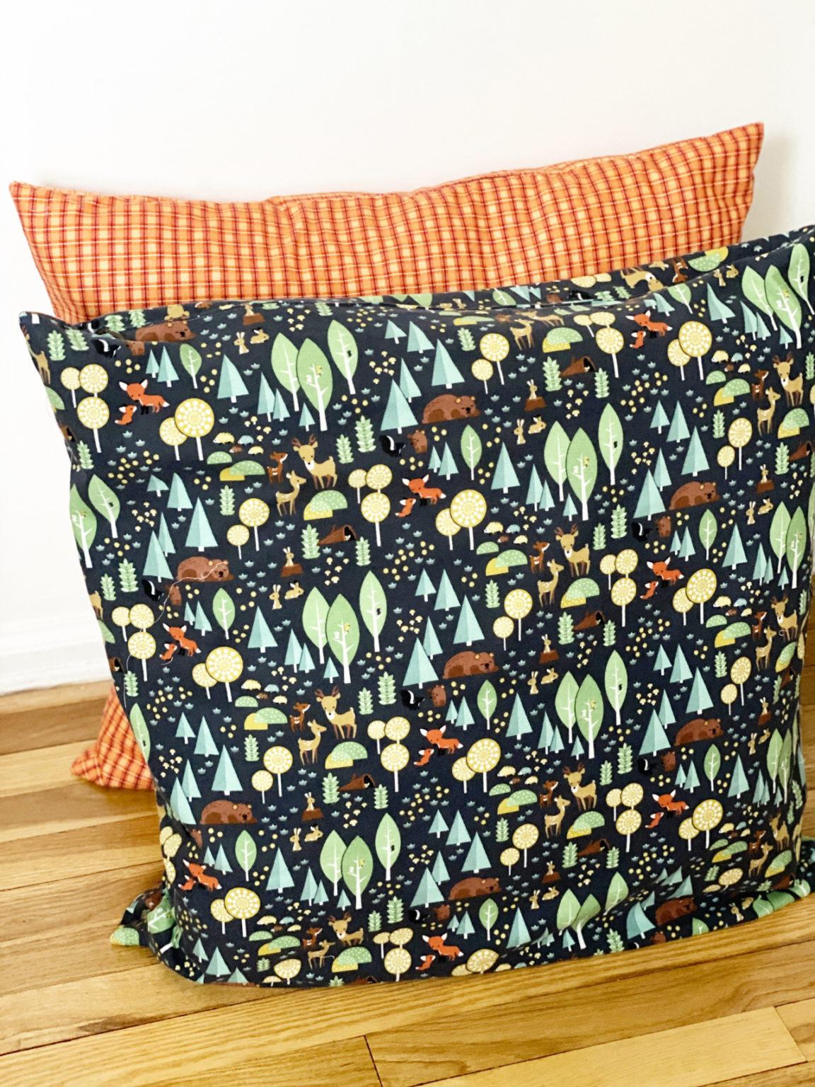 Invisible Zipper Floor Pillow Kreative Kymona RB Blog