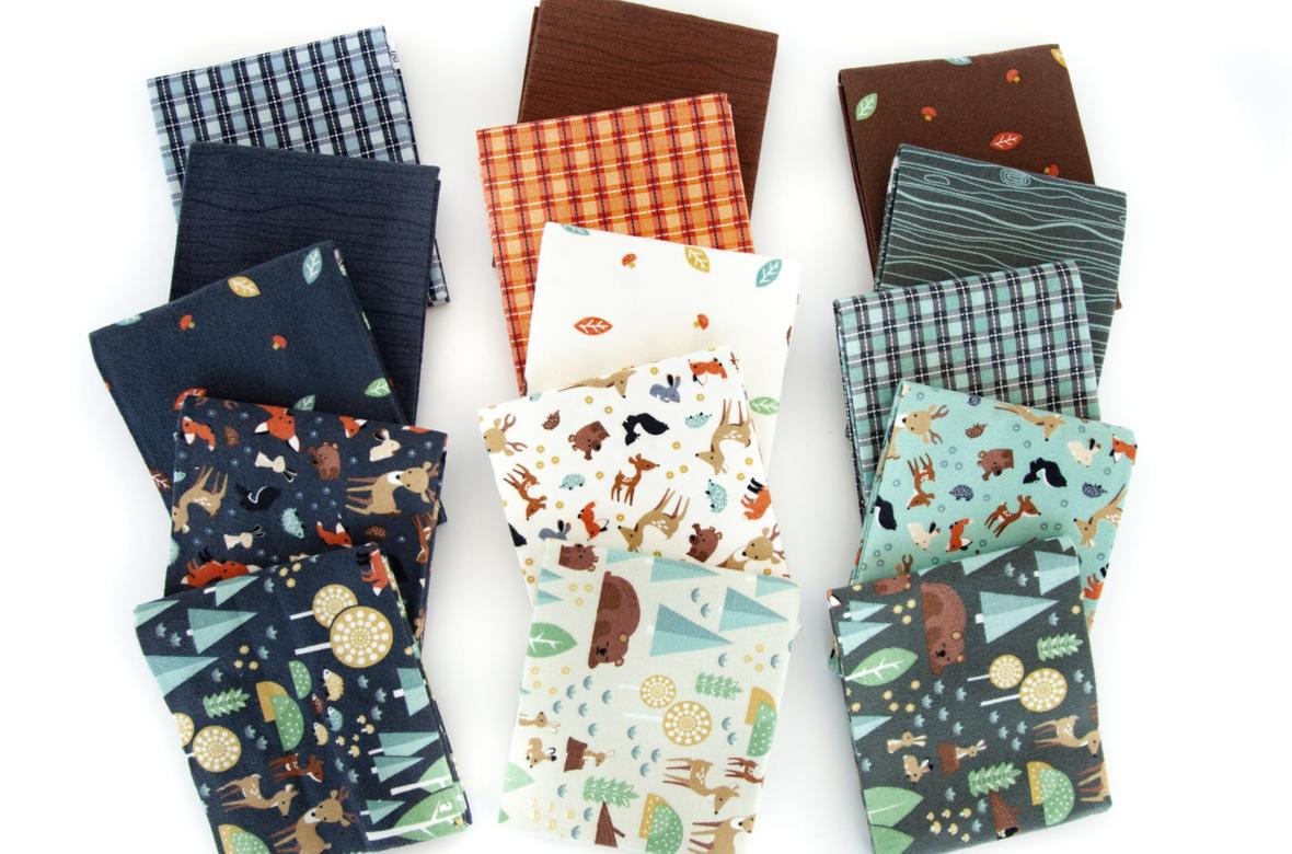Woodland Flannel fabric
