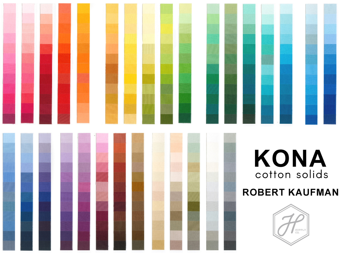 Kona Solids Robert Kaufman at Hawthorne Supply Co rectangle