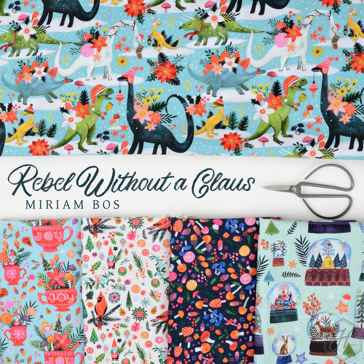 Rebel without a Claus Miriam Bos fabric for Dear Stella at Hawthorne Supply Co
