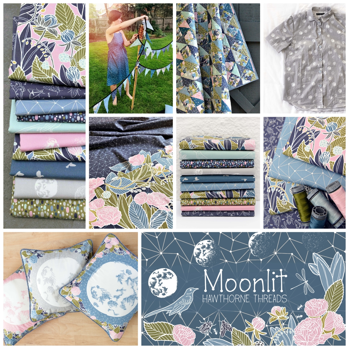 Moonlit Fabric Poster