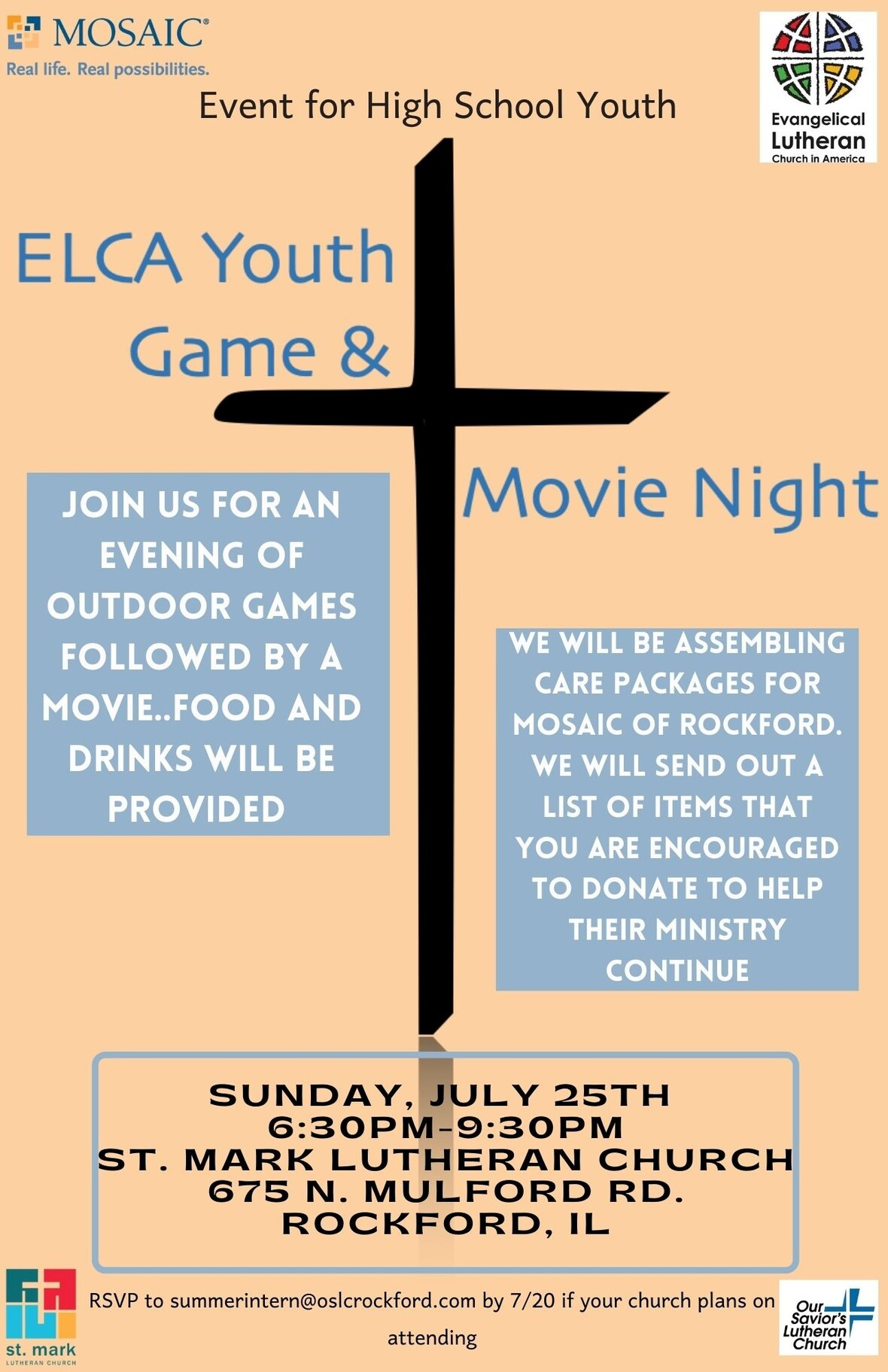 MEMOS - Game and movie night flyer