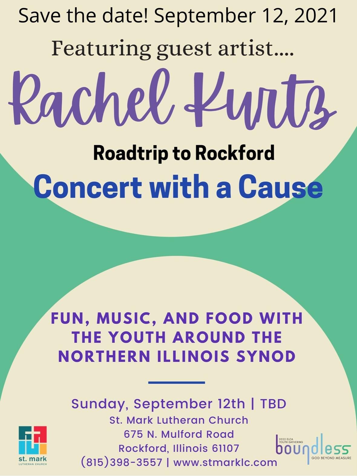 Rachel Kurtz concert Sept 12