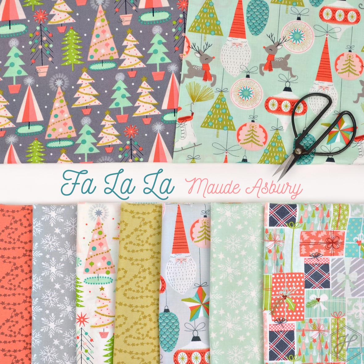 Fa La La fabric collection by Maude Asbury at Hawthorne Supply Co