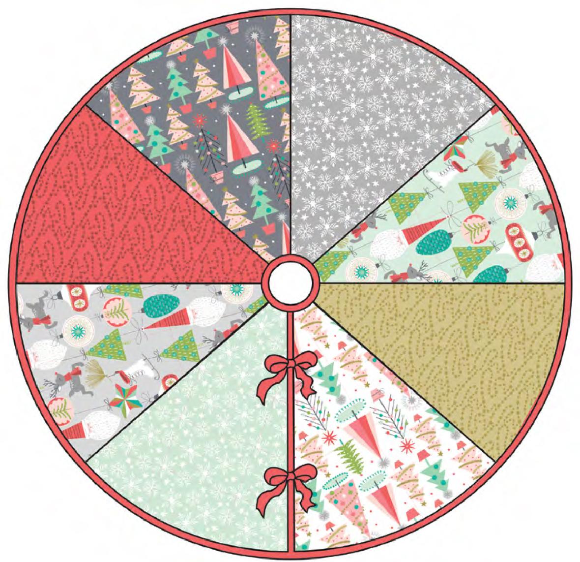 Color Wheel Tree Skirt