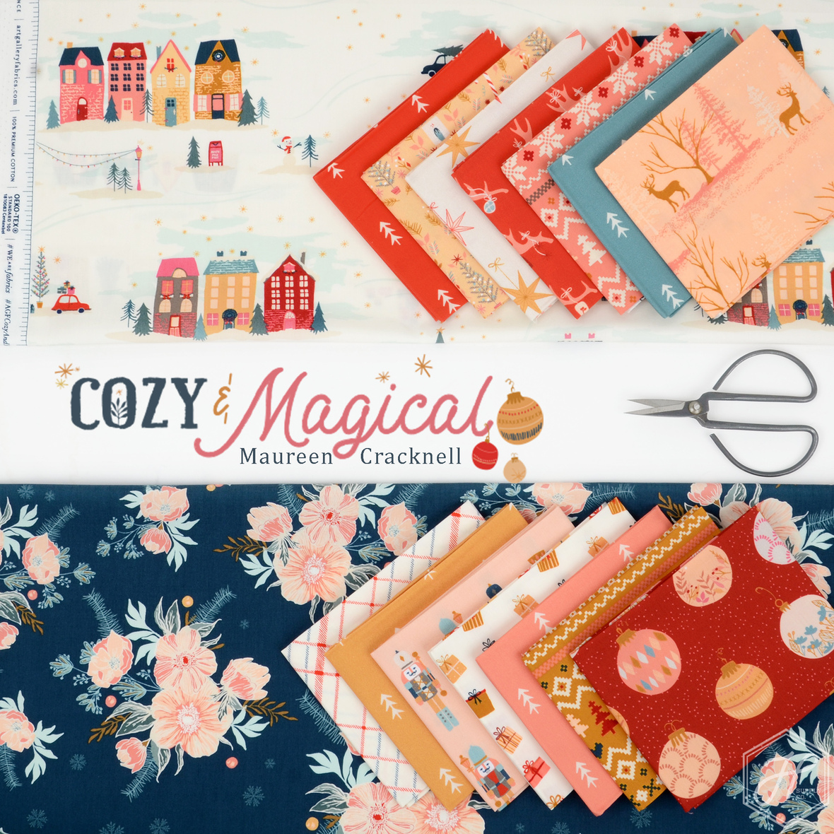 Cozy and Magical Maureen Cracknell for Art Gallery fabric at Hawthrone Supply Co