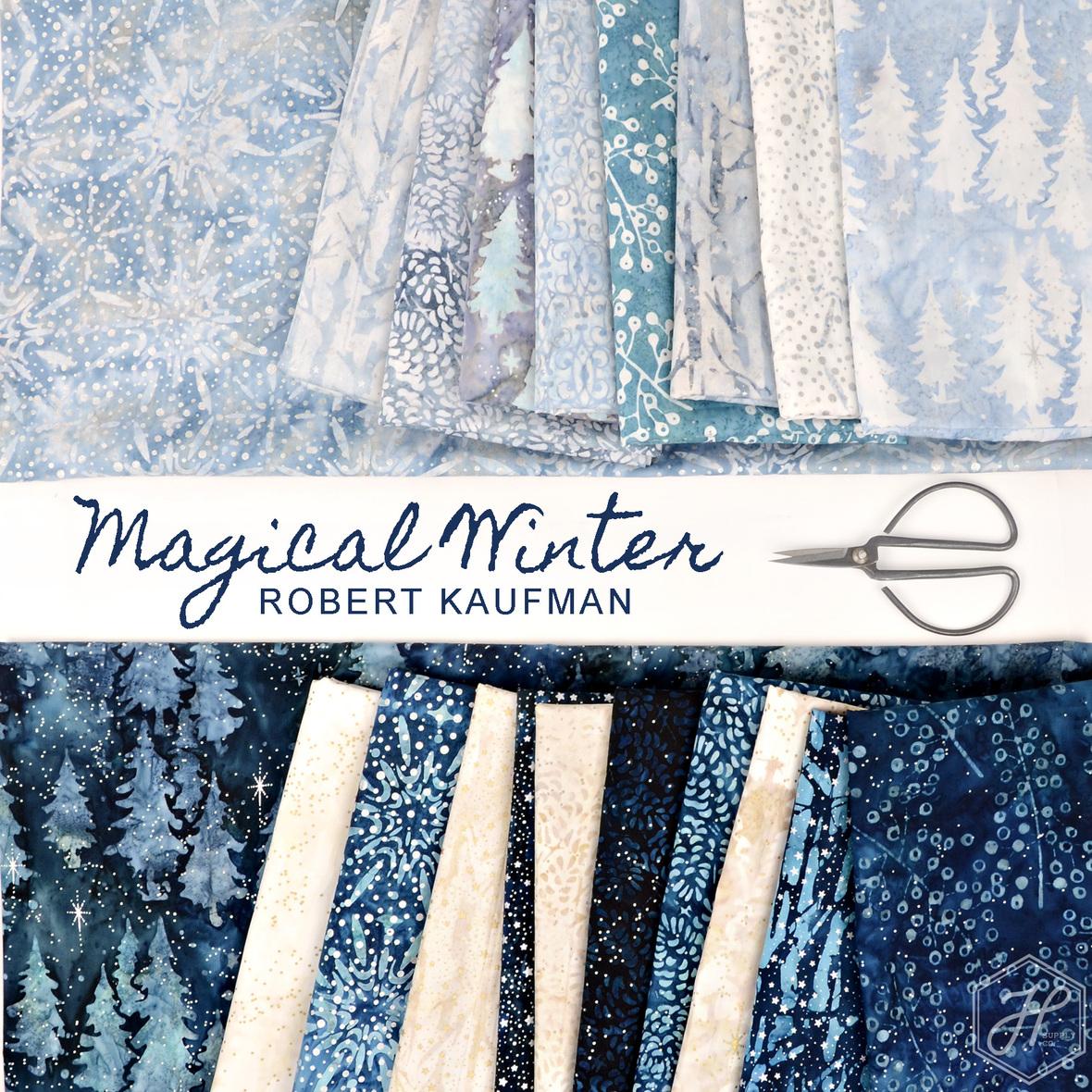 Magical Winter Batik fabric Robert Kaufman at Hawthorne Supply Co