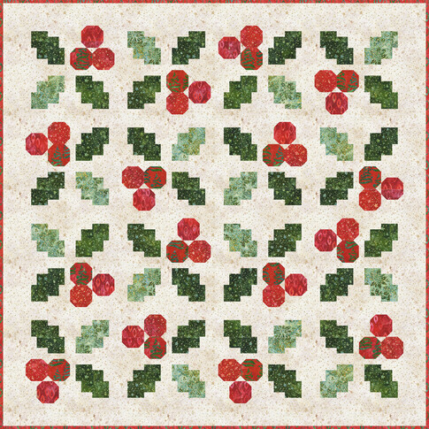 HolidayMoments HollyJollyQuilt