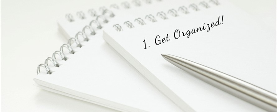 get organized pad and pen