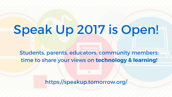 Speak Up 2017 is Open - blog