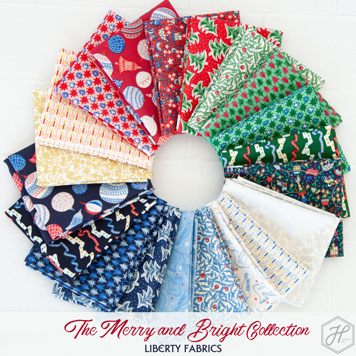 The Merry and Bright Collection Liberty of London Fabric for Riley Blake at Hawthorne Supply Co
