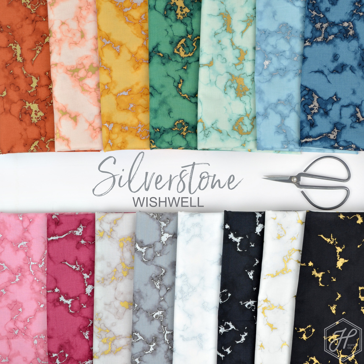 Silverstone Wishwell for Robert Kaufman fabric at Hawthorne Supply Co