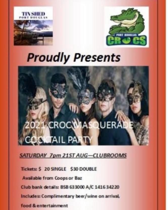 crocs masquerade party