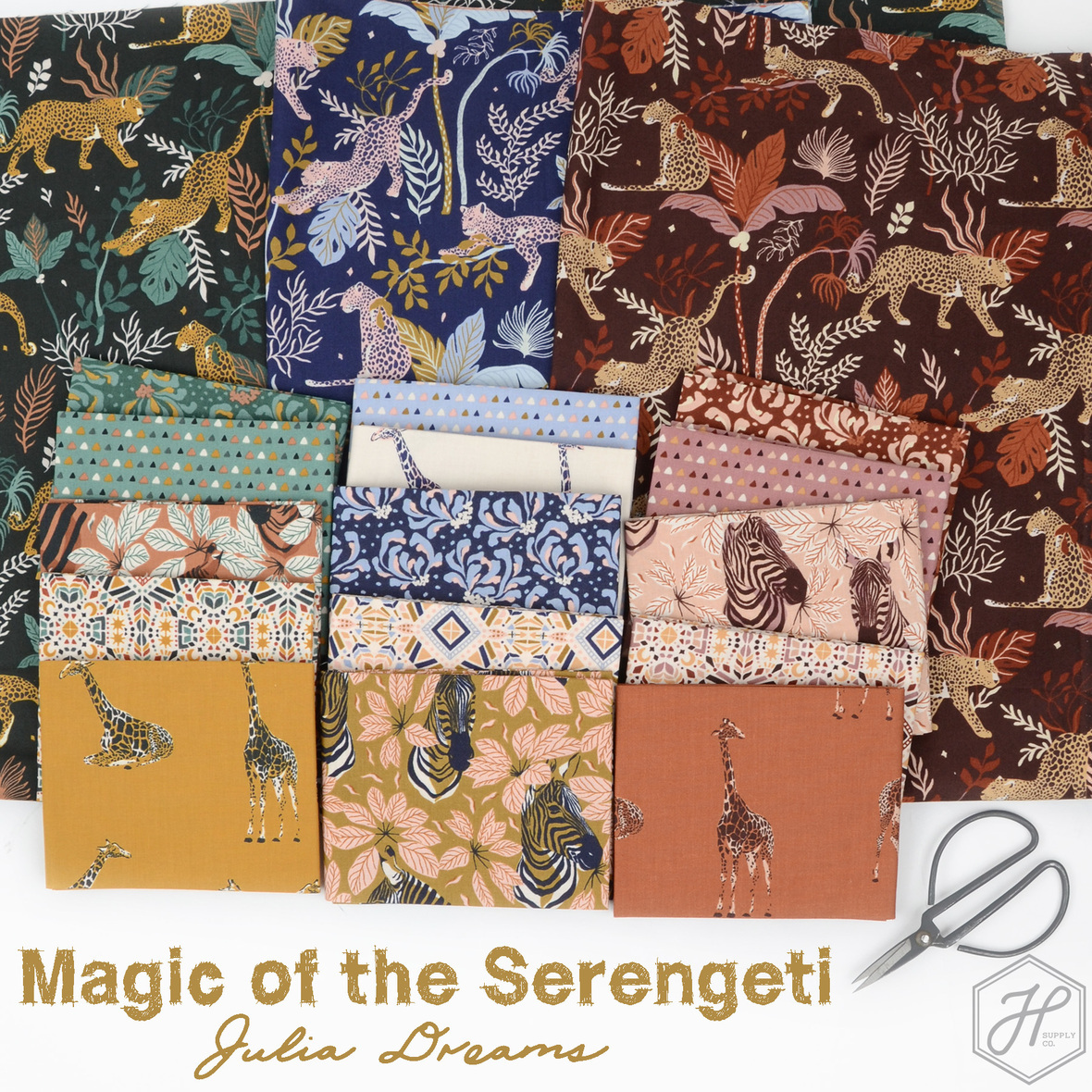Magic of the Serengeti Julia Dreams fabric for Cotton and Steel at Hawthorne Supply Co