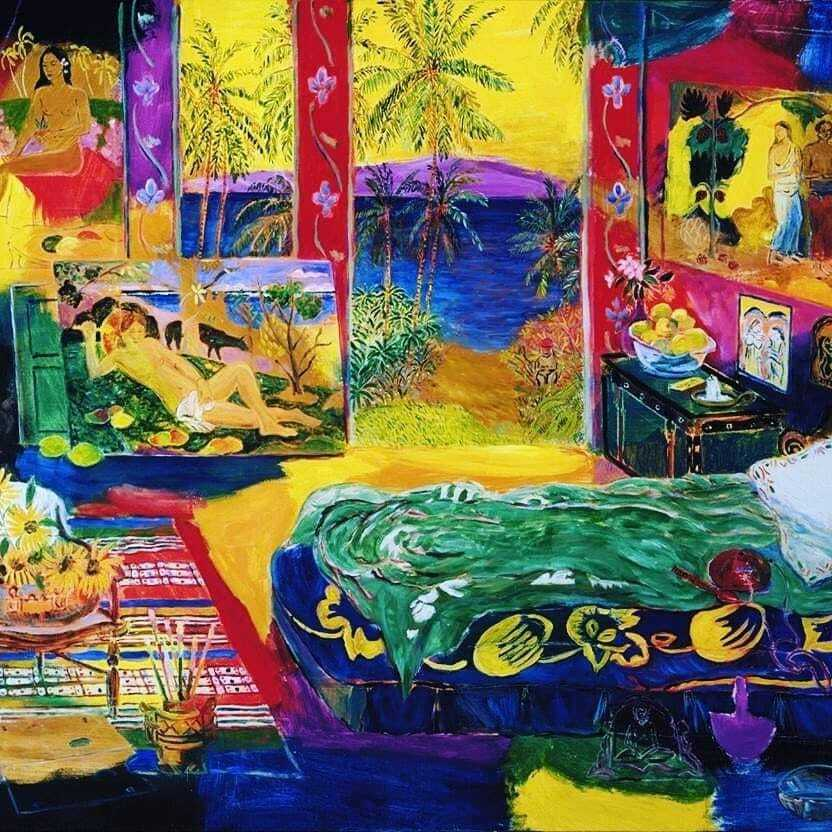 Damien Elwes. imagining the studio of Matisse