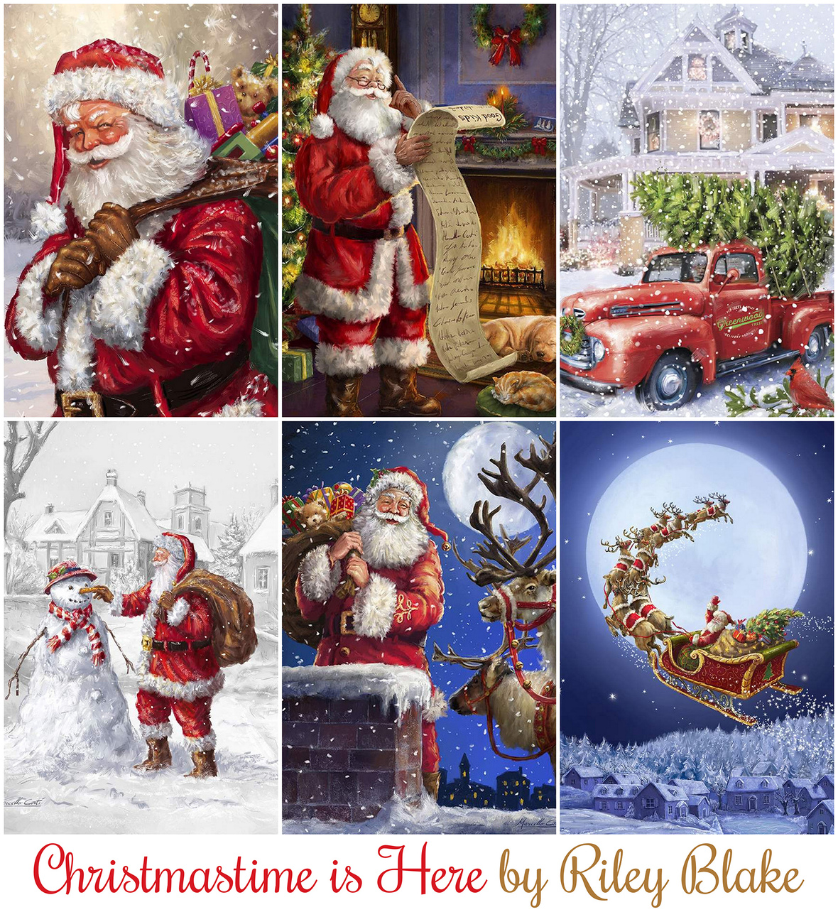 Christmastime is Here Panel fabric collection by RIley Blake at Hawthorne Supply Co