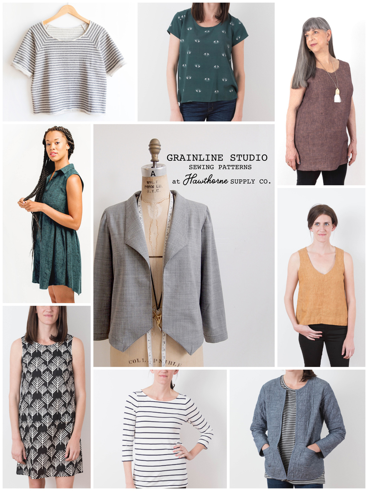 Grainline Studio Patterns at Hawthorne Supply Co