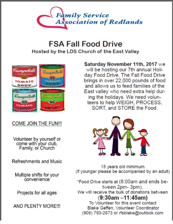 FSA fall food drive