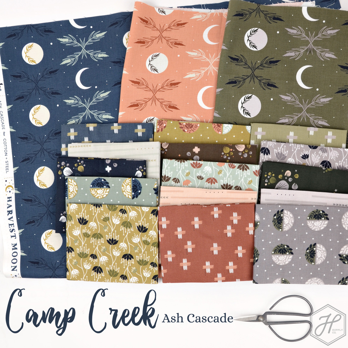 Camp Creek fabric Ash Cascade for Cotton and Steel at Hawthorne Supply Co