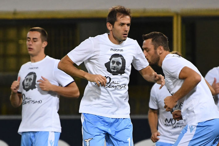 32015ecfd Lazio soccer players wore images of Anne Frank and the words  No to  anti-Semitism  on their shirts on Wednesday – by chance they were playing  at Bologna in ...
