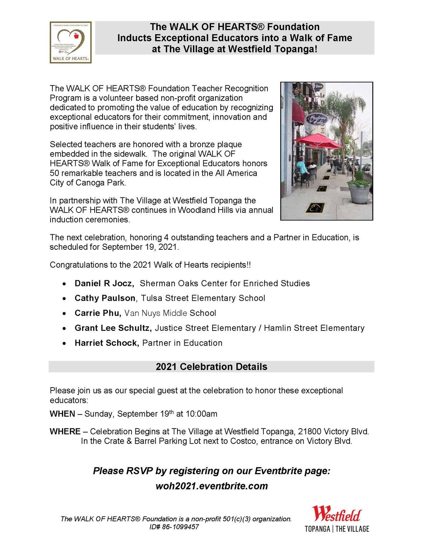 2021 WALK OF HEARTS - Celebration Invite Page 1