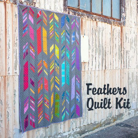 alison glass feathers quilt kit sewing pattern