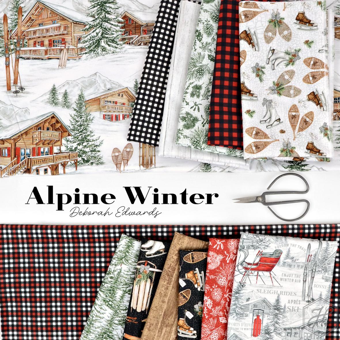Alpine Winter Fabric Deborah Edwards fabric for Northcott at Hawthorne Supply Co