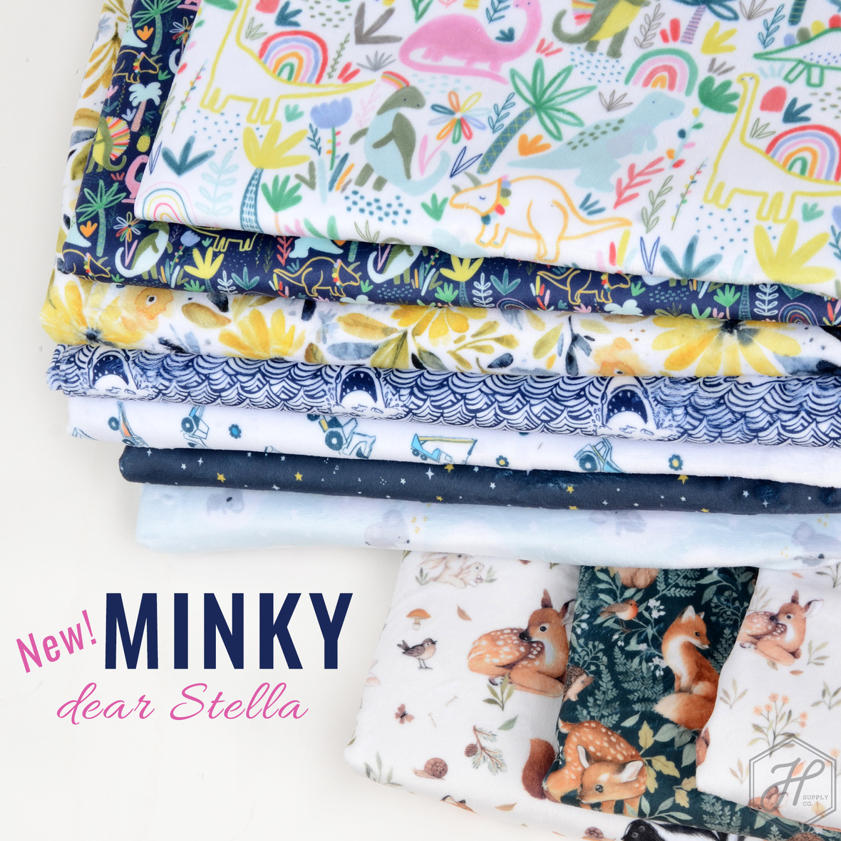 New Printed-Minky-by-Dear-Stella-at-Hawthorne-Supply-Co