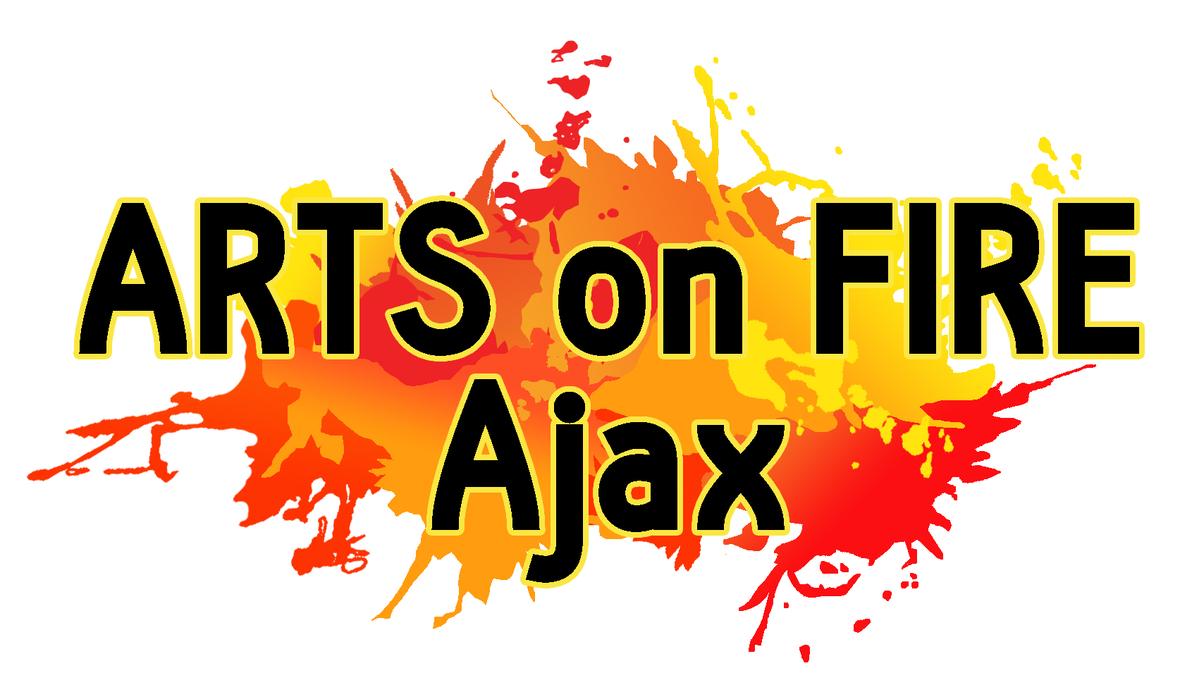 Arts on Fire Ajax Logo - Black Writing