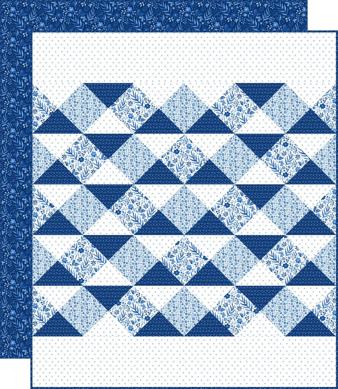 Seabreeze Quilt Blue Backing