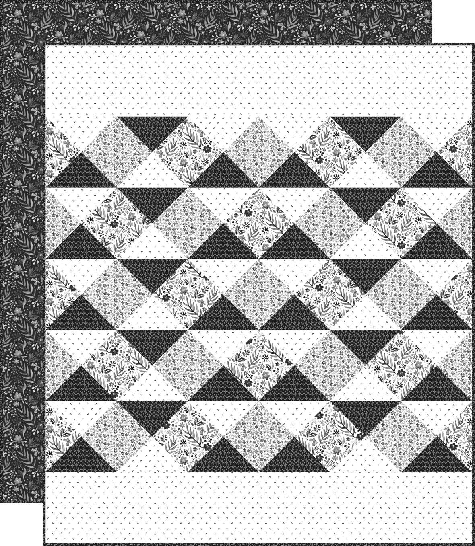 Seabreeze Quilt Black Backing